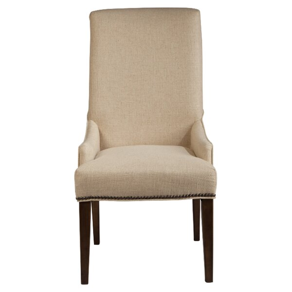 Cessna Warm Stained Upholstered Chairs (Set of 2) by Gracie Oaks