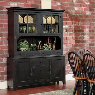 August Grove Lighted China Cabinet Color China Cabinet