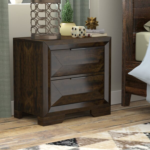 Bender Contemporary 2 Drawer Nightstand by Union Rustic