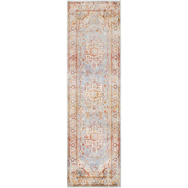Elvis Floral Burnt Orange/Saffron Area Rug by Charlton Home