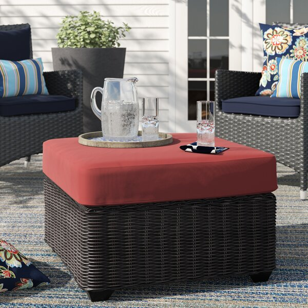 Fairfield Outdoor Ottoman with Cushion by Sol 72 Outdoor