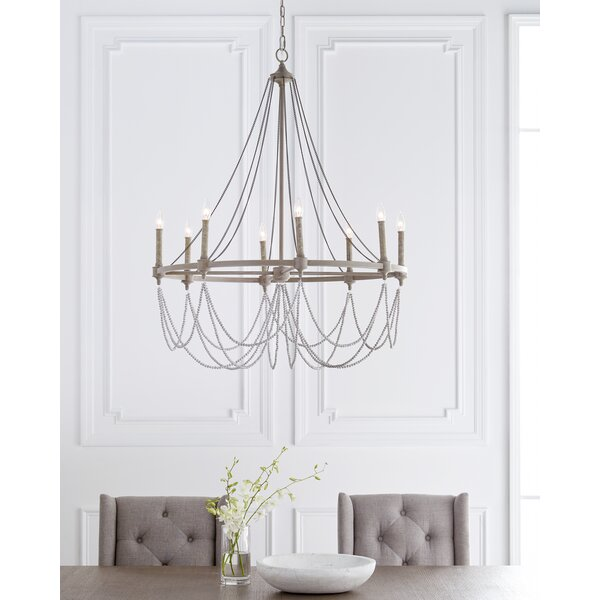 Fitzgibbon 8 - Light Candle Style Empire Chandelier By Greyleigh