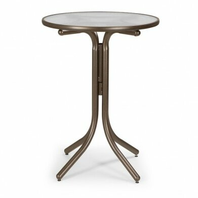 Glass Top Round Bar Table by Telescope Casual