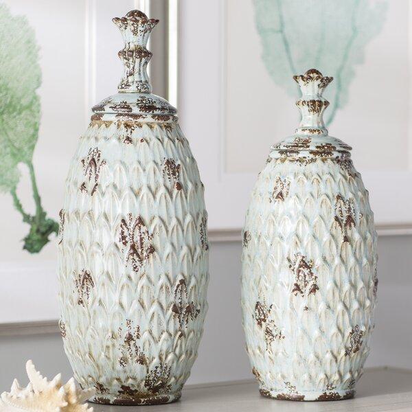 2 Piece Floor Vase Set by Bay Isle Home