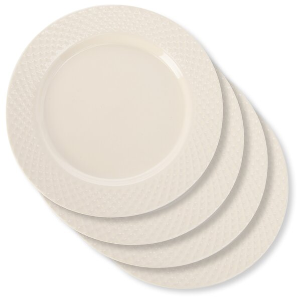 Nickelsville Waffle 8 Salad Plate (Set of 4) by Bungalow Rose