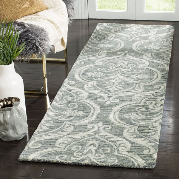 Bevis Hand Tufted Wool Blue and Sage Area Rug by Darby Home Co