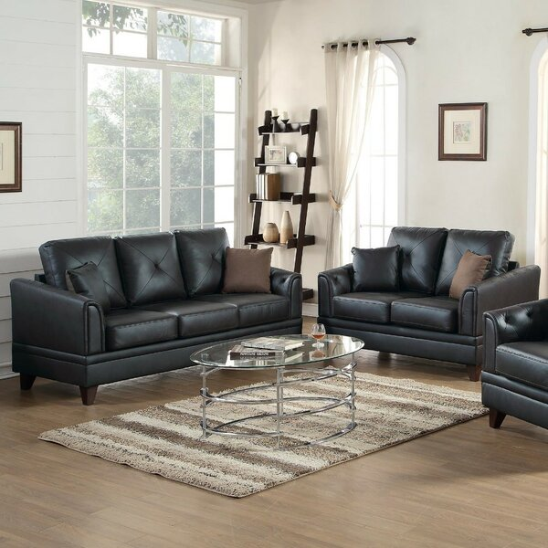 Soules 2 Piece Leather Living Room Set by Red Barrel Studio