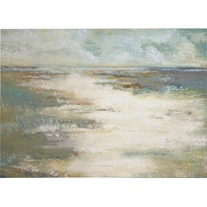 'Misty Coast' Painting Print on Wrapped Canvas by Wexford Home