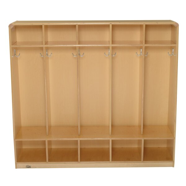 5 Section Coat Locker by Korners for Kids