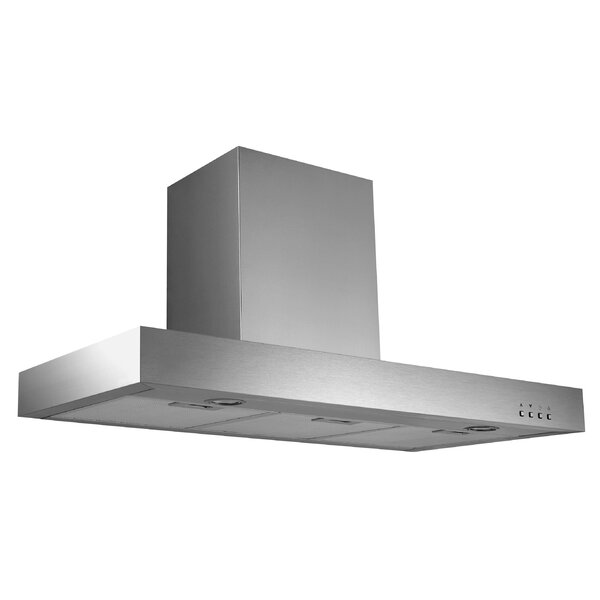 36 Ancona Rectangle Series 600 CFM Convertible Wall Mount Range Hood by Ancona