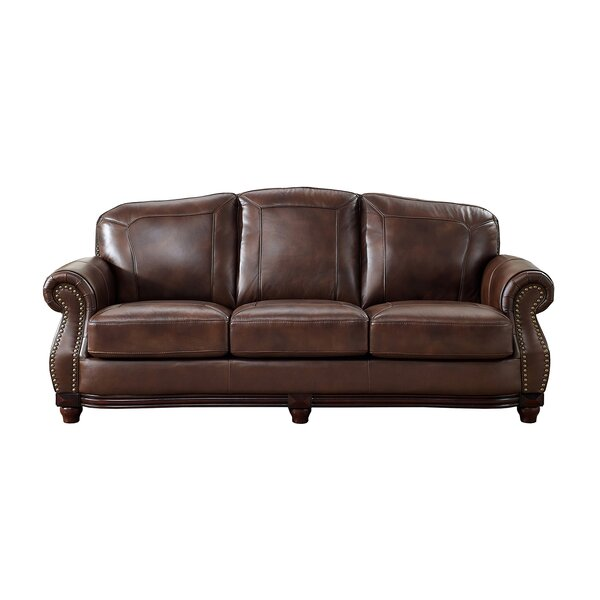 Rude Leather Sofa by Canora Grey