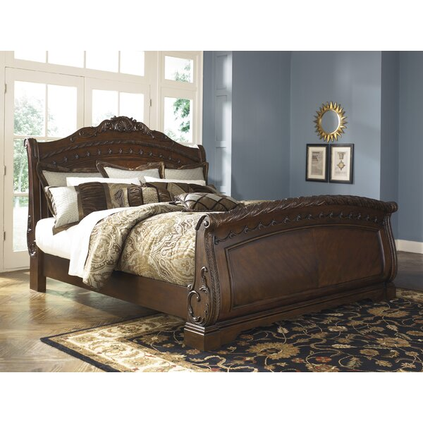 Chapell Sleigh Bed by Astoria Grand