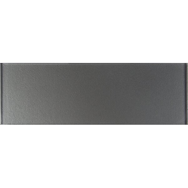 4 x 12 Glass Tile in Metallic Gray by MSI