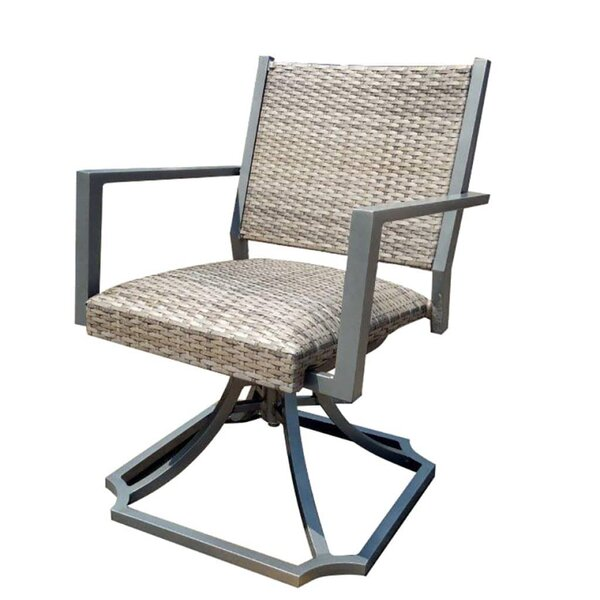 Paddington Padded Swivel Patio Dining Chair by Charlton Home