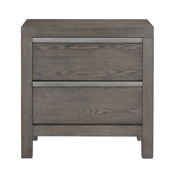 Schutz 2 Drawer Nightstand by Williston Forge