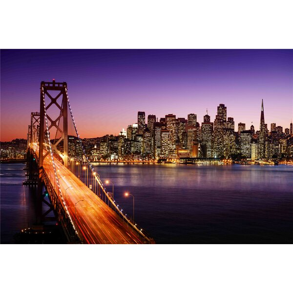 LED Lighted Famous San Francisco Oakland Bay Bridge Photographic Print on Canvas by Northlight Seasonal