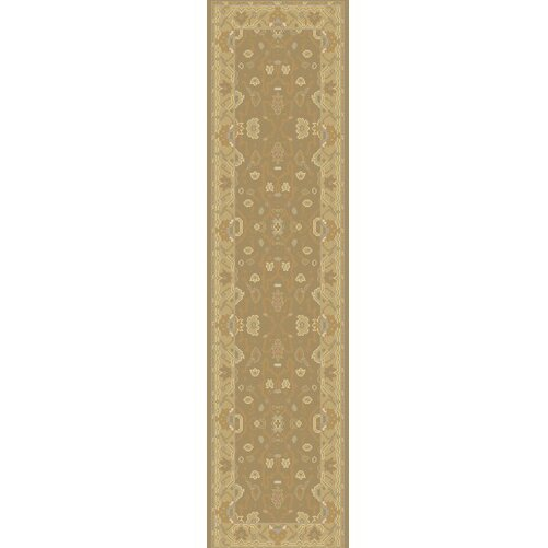 Matthias Hand-Knotted Brown Area Rug