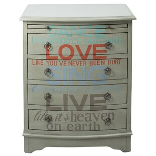 Affordable Price by ram Words of Wisdom 4 Drawer Accent Chest by Red Barrel Studio