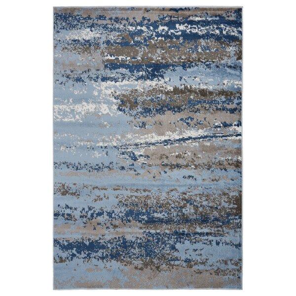 Riehl Blue Area Rug by Orren Ellis