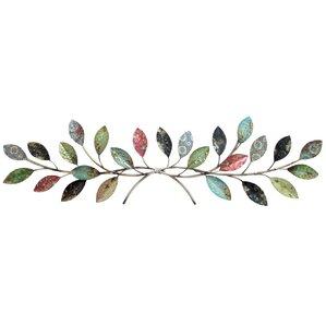 Metal Leaves Wall Decor tree & nature metal wall art you'll love | wayfair