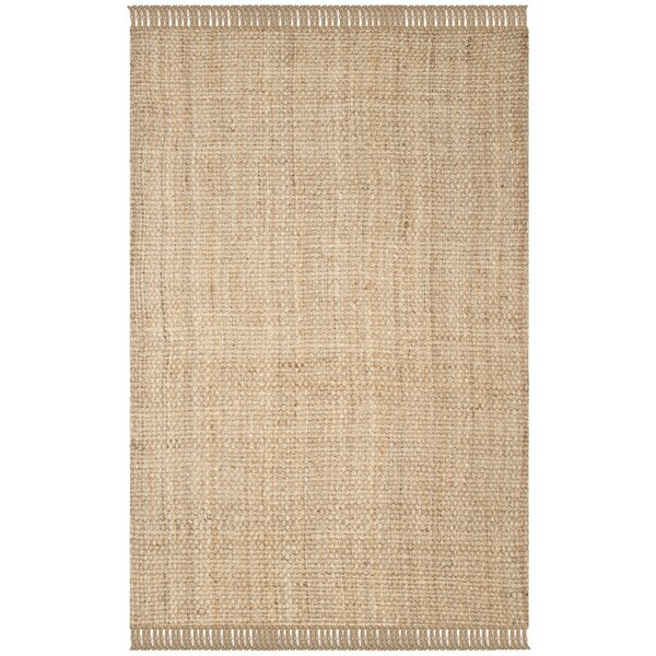 Elizabeth Hand-Woven Beige Area Rug by Beachcrest Home