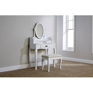 Lucy Dressing Table Set With Mirror