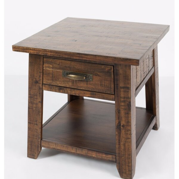 Athol End Table with Storage by Three Posts
