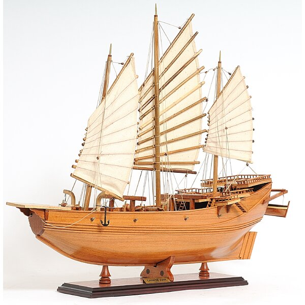 Chinese Junk Model Boat by Old Modern Handicrafts