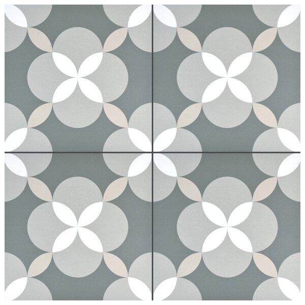 Artiste Atelier 13 x 13 Porcelain Field Tile in Geo Gray by EliteTile