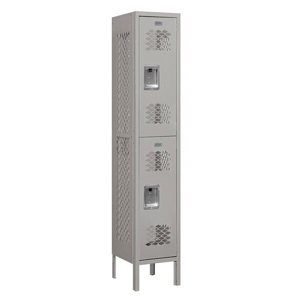 2 Tier 1 Wide School Locker by Salsbury Industries