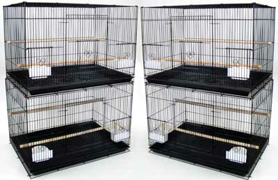Lot of Four Medium Bird Cage (Set of 4) by YML