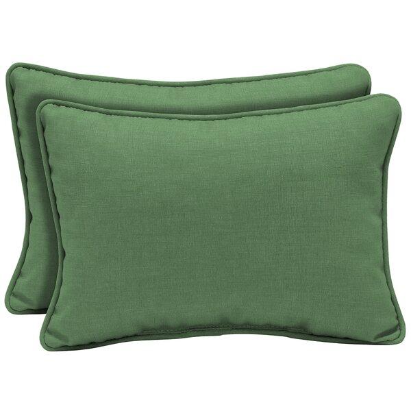 Kizer Texture Outdoor Lumbar Pillow (Set of 2) by Bayou Breeze