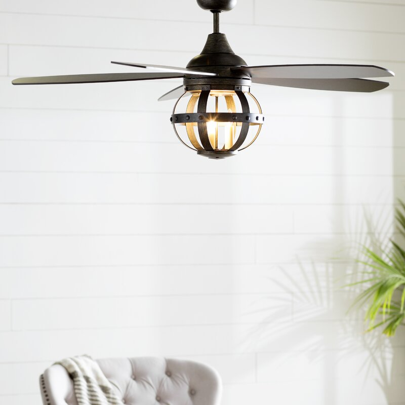 """52"""" Wilburton 5 Blade Ceiling Fan with Remote"""