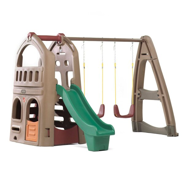 Naturally Playful Playhouse Climber Swing Set by S