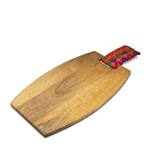 Emmaus Mango Wood Serve Cheese Board and Platter by World Menagerie