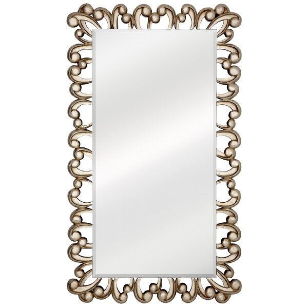 Large Stylish Silver Rectangular Beveled Glass Unique Decorative Wall Mirror by Majestic Mirror