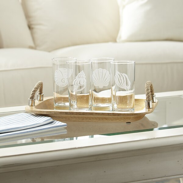 Seashell Etched Highball Glasses (Set of 4) by Birch Lane™