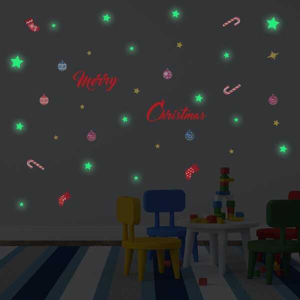 Glow in Dark Merry Christmas Wall Decal by The Holiday Aisle