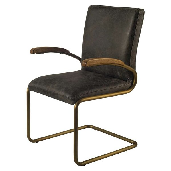 Irvington Cantilever Genuine Leather Upholstered Dining Chair by Gracie Oaks