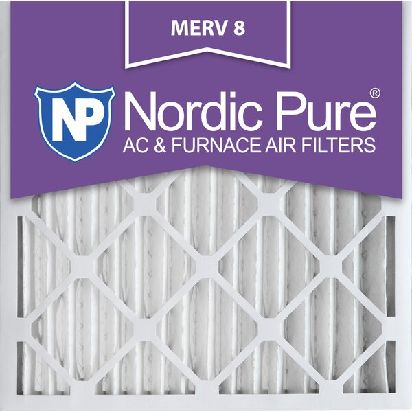 Merv 8 Dust Reduction Pleated Air Conditioner/Furnace Filter (Set of 3) by Nordic Pure