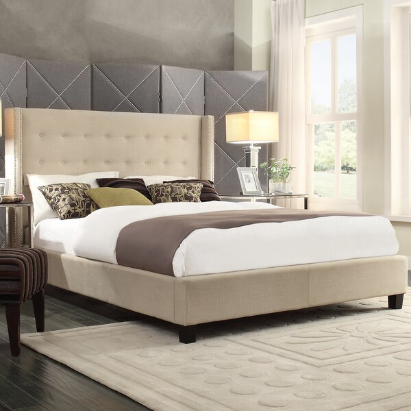 Gittan Linen Upholstered Platform Bed by Willa Arlo Interiors