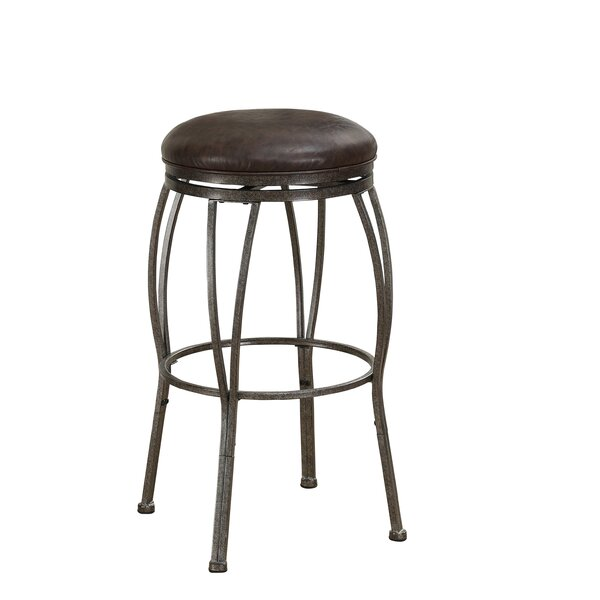 Vandemere Adjustable Height Swivel Bar Stool by Loon Peak