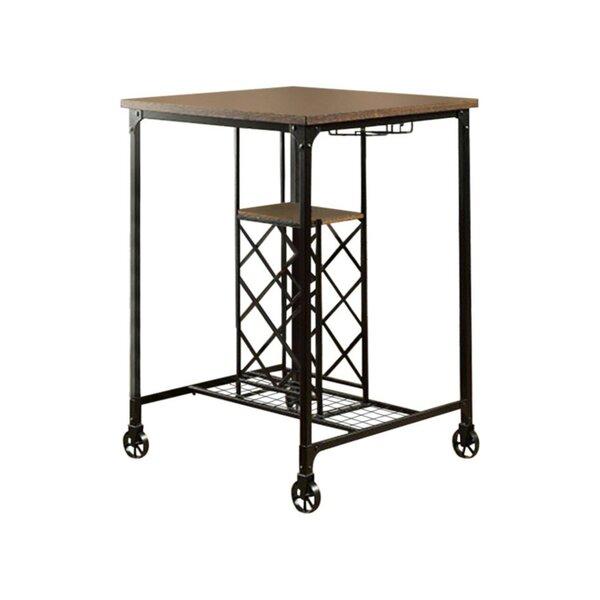 Weber I Wine Rack Pub Table by Gracie Oaks