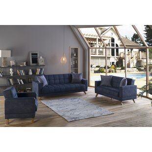 Anissa 3 Piece Sleeper Living Room Set by George Oliver