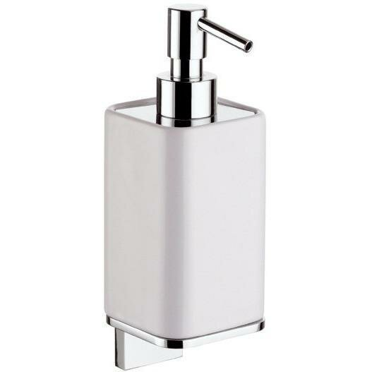 Sottile Wall Mounted Ceramic Soap & Lotion Dispenser by Orren Ellis
