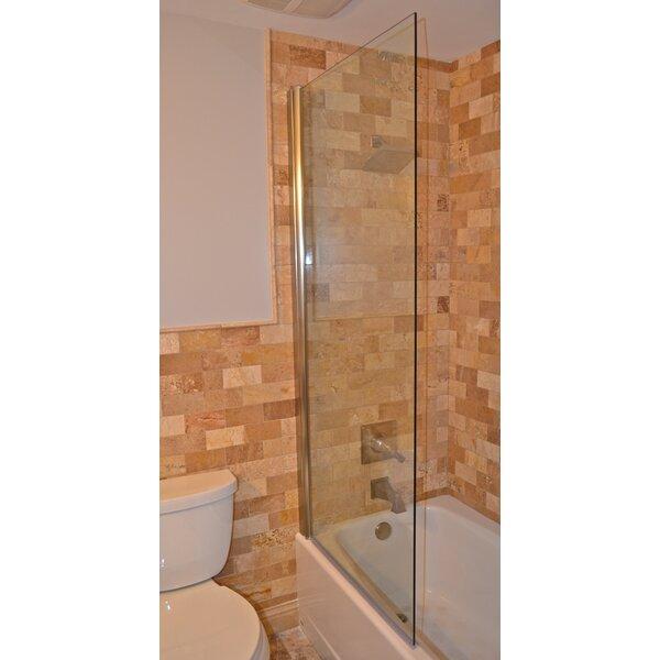 33.5 x 64 Pivot Semi-Frameless Tub Door by Ark Showers