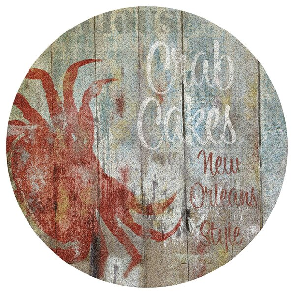 New Orleans Seafood II Cork Trivet by Thirstystone