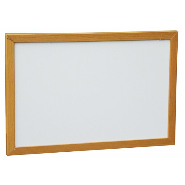 Wood Framed Wall Mounted Magnetic Whiteboard by Ne