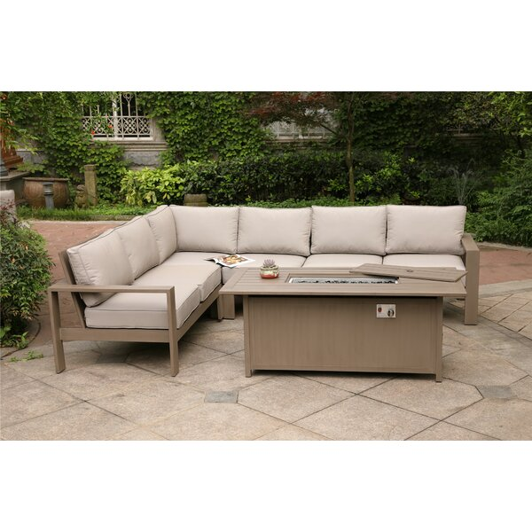 Otega 5 Piece Sectional Set with Cushion by Orren Ellis