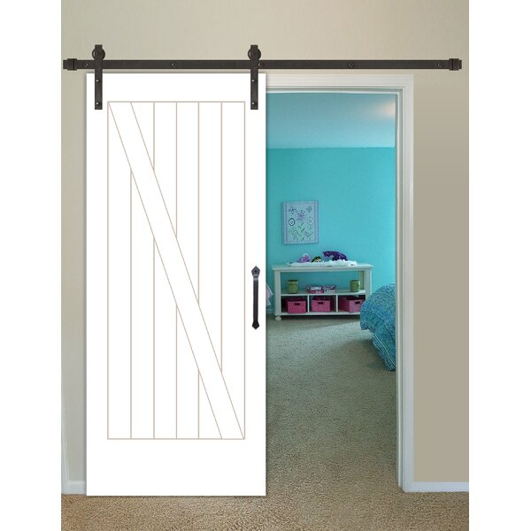 Shaker 2-Panel Prime Solid Panelled Wood Interior Barn Door by Creative Entryways